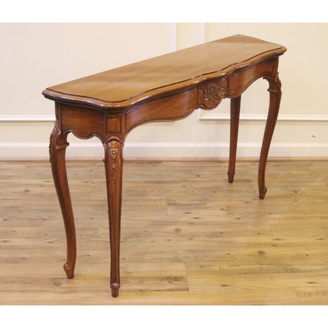 1970s Vintage Thomasville French Country Style Console Table For Sale - Image 11 of 13