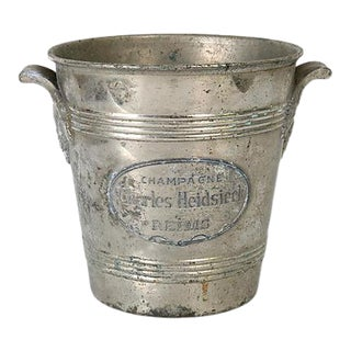 Antique Heidseick Champagne Ice Bucket For Sale