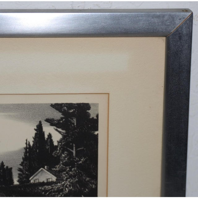 """1930s Stow Wengenroth """"Inlet Light"""" Limited Edition Pencil Signed Lithograph C.1937 For Sale - Image 5 of 8"""