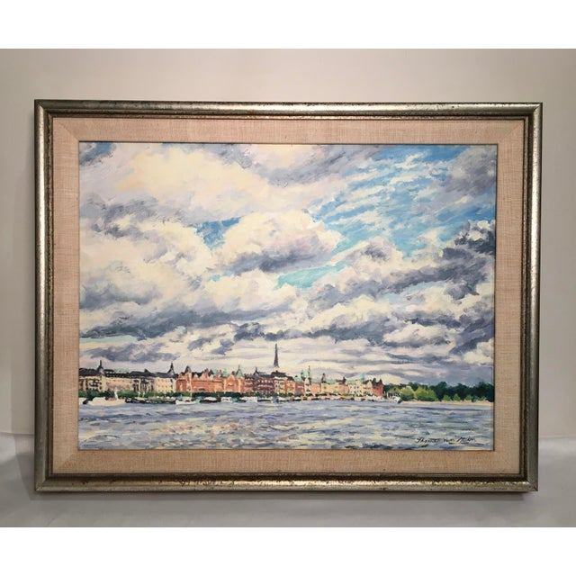 """Old Stockholm"" Oil on Canvas Painting by Thomas Van Stein For Sale - Image 13 of 13"