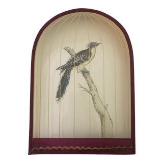 Mid 19th Century Trompe L'oeil Birdcage Painting, Framed For Sale