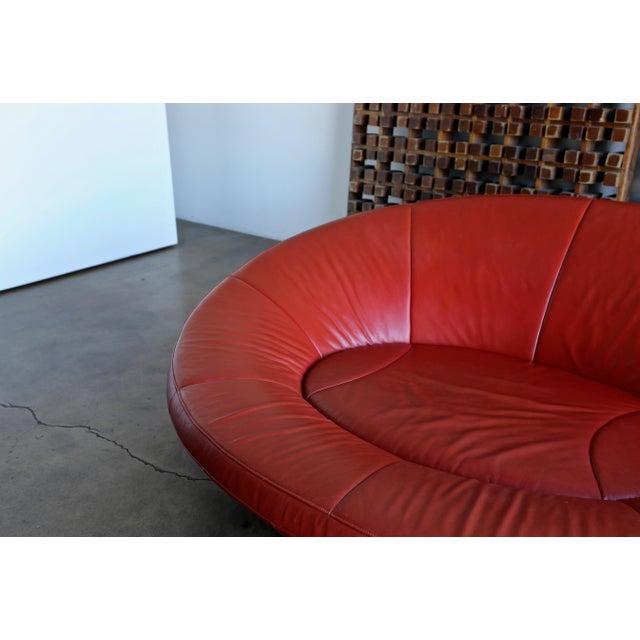 De Sede Jane Worthington DS 152 Red Leather Sofa for De Sede For Sale - Image 4 of 13