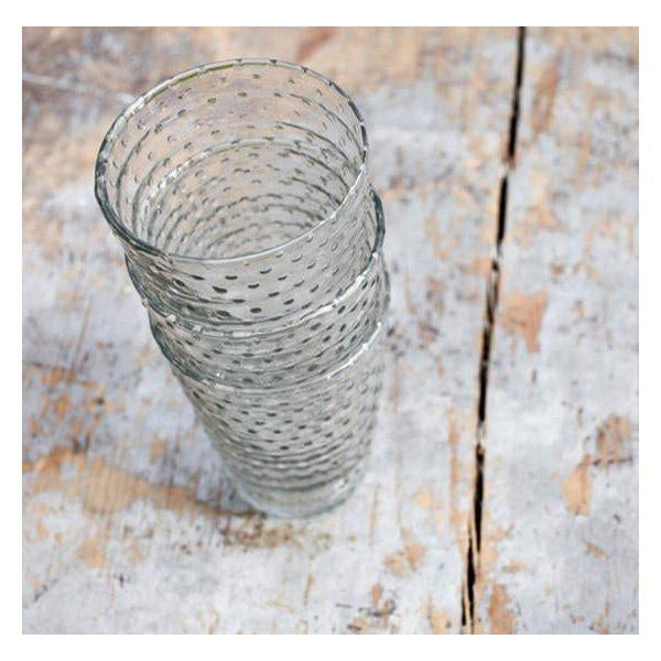 Contemporary Idika Recycled Glass Dot Glasses - Set of 6 For Sale - Image 3 of 6