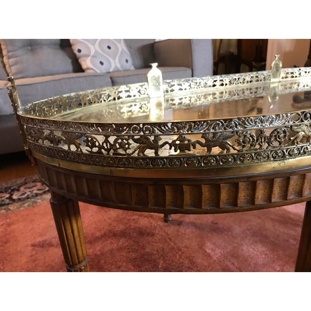 Mid-Century Modern French Plateau Coffee Table For Sale - Image 4 of 9