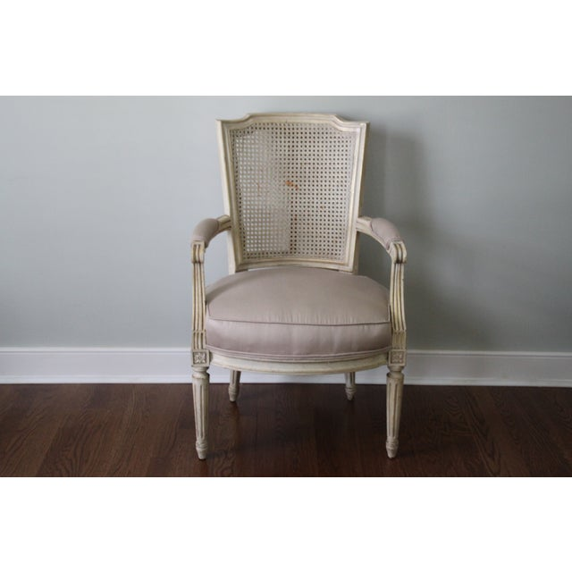 Antique French Caned Chair - Image 2 of 8