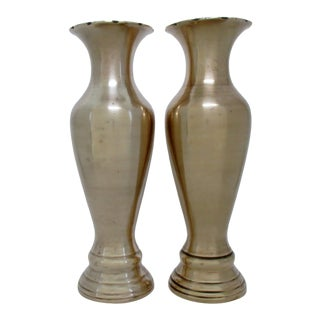 Neoclassical Brass Vases - a Pair For Sale