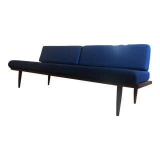 Blue Mid-Century Couch
