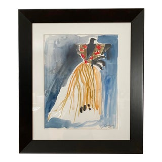 Original Art Costume & Set Design for Fifth Avenue Window Design #1 Framed For Sale