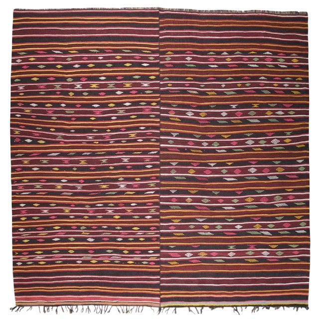 Pair of Banded Kilims For Sale