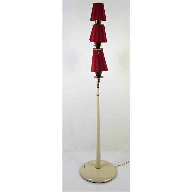 Hollywood Regency Modern Italian Five Light Floor Lamp 1940s For Sale - Image 3 of 13