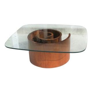 Mid-Century Vladimir Kagan Snail Coffee Table for Selig For Sale