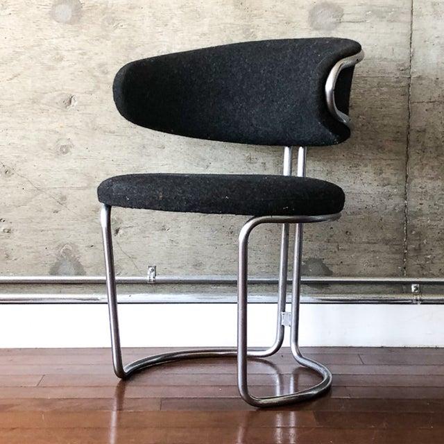 Vintage Barrel Back Modernist Chair For Sale In Los Angeles - Image 6 of 9