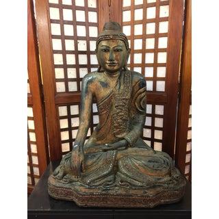 Antique Burmese Mandalay Buddha Statue Preview