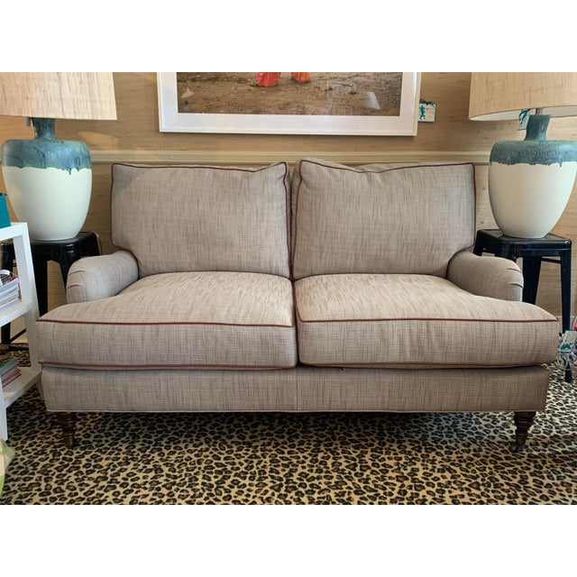English Beige Contemporary English Sofa For Sale - Image 3 of 3