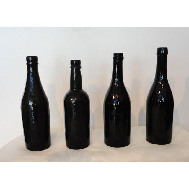 Fantastic Early 19thc Collection of Olive Green Bitters Bottles - Image 8 of 9