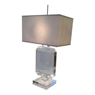 Les Prismatiques Acrylic Table Lamp For Sale