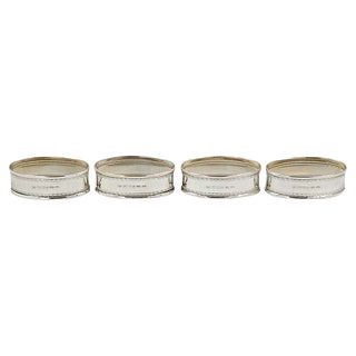 English Sterling Napkin Rings, S/4 For Sale