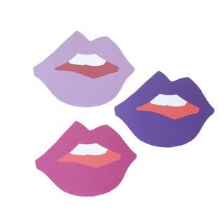 "Mini ""Kiss Me"" Ultra Violet Cutout Prints by Angela Chrusciaki Blehm - Set of 3"