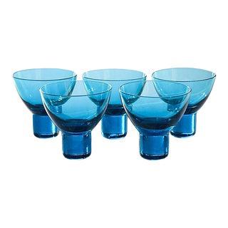 Blue Glasses, S/5 For Sale