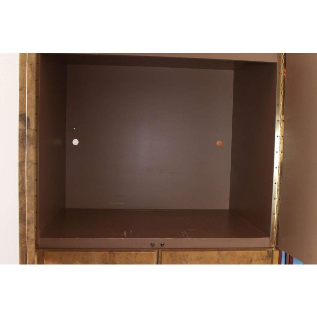 1980s 1980s Glazed Parchment Finish Armoire For Sale - Image 5 of 9
