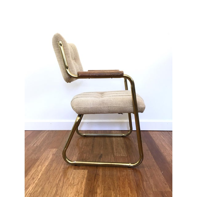 Vintage Brass Dining or Side Chairs - Set of 4 - Image 4 of 11