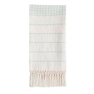 Mexican Mint Handwoven Throw For Sale
