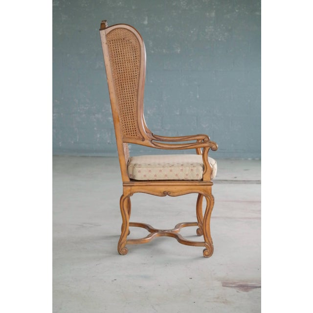 1920s Hollywood Regency Cane Wingback Chair For Sale In New York - Image 6 of 10