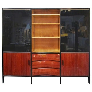 Midcentury French Bookshelf in Mahogany by Meubles Minvielle For Sale