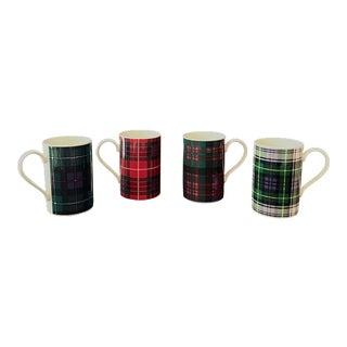 Scottish Tartan Mugs - Set of 4 For Sale