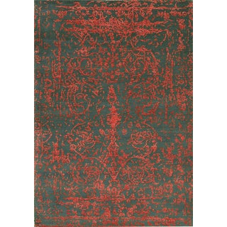 """Contemporary Hand Woven Rug - 4' x 5'11"""" For Sale"""