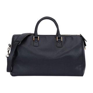 Chanel Black & Gold Saffiano Duffel Bag For Sale