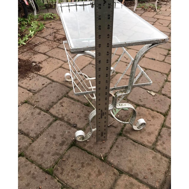 Salterini Style Outdoor Wrought Iron Side Table - Image 8 of 9