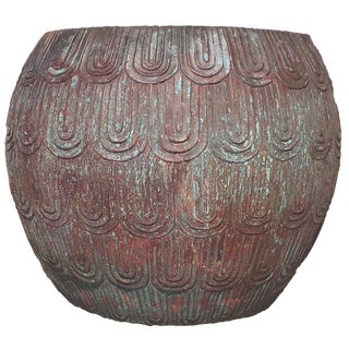 """Burtalist """"Fish Scale"""" Inspired Low Drum Stool by Robert Kuo For Sale"""