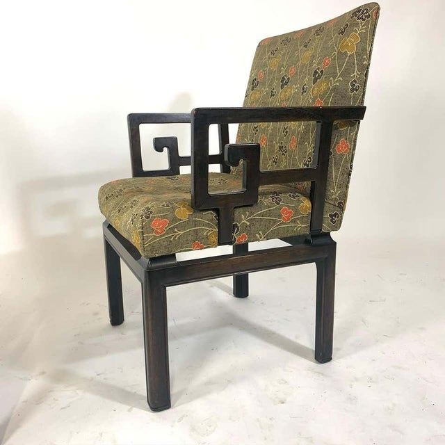Pair of Greek Key Far East for Baker Chinoiserie Armchairs by Michael Taylor For Sale - Image 12 of 13