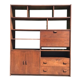 Mid Century Wall Unit. For Sale