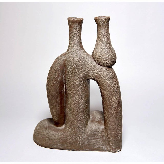 """Modern """"Woman With Vase"""" Ceramic Sculpture by Salvatore Fiume For Sale - Image 3 of 9"""