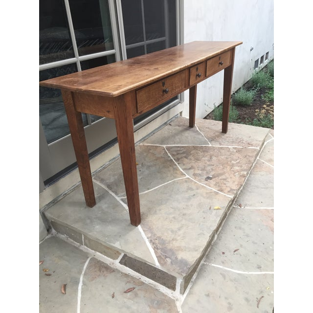 Antique Three-Drawer Console Table - Image 10 of 11