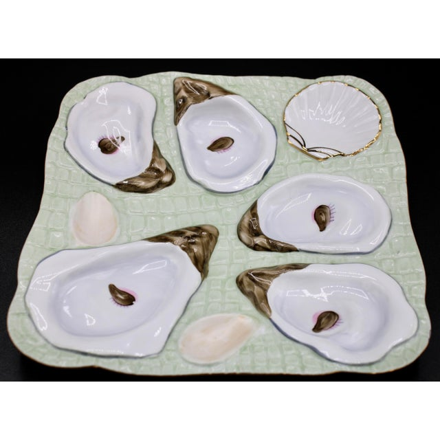 1960s Mint Green Oyster Plate For Sale - Image 4 of 12