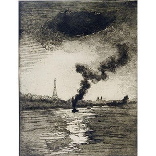 1923 Edouard Leon Paris Etching For Sale