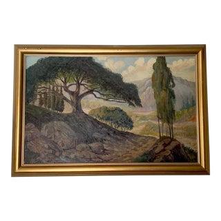 Art Nouveau Landscape Oil Painting, Antique Art For Sale