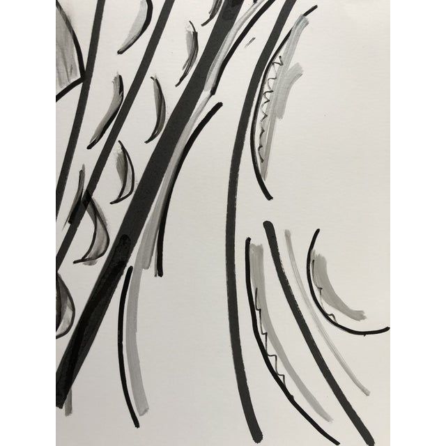 Abstract Abstract Ink Wash 13 X 17 Original by Erik Sulander For Sale - Image 3 of 4