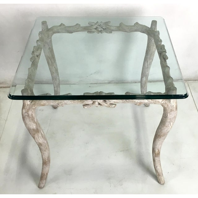 French Wonderful Concrete Faux Bois Garden Table For Sale - Image 3 of 5