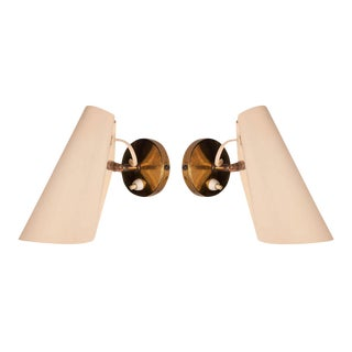 Birger Dahl Adjustable Metal Cone Wall Sconces - a Pair For Sale