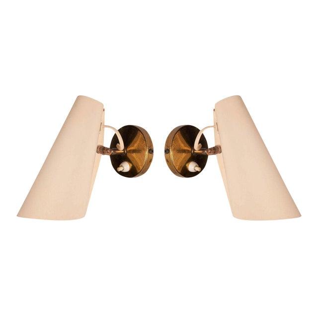 Birger Dahl Adjustable Metal Cone Wall Sconces - a Pair For Sale