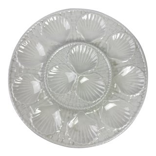 French White Oyster Platter For Sale