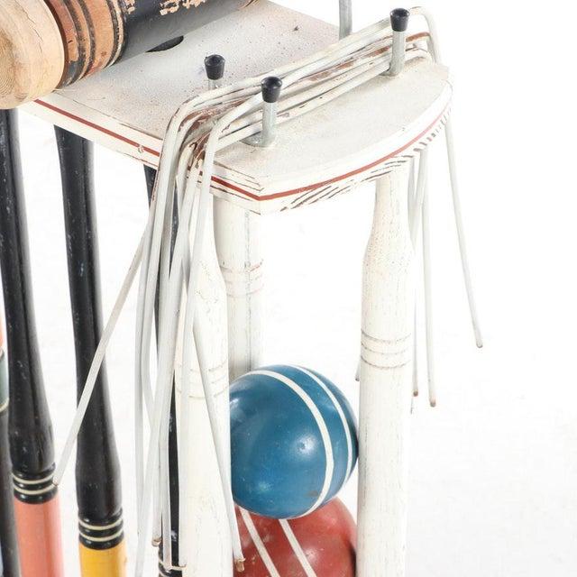 Vintage Painted Wood Croquet Set - 29 Piece For Sale - Image 10 of 13