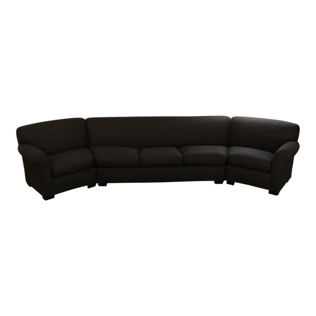 Addison Interiors Brown Wedge Sectional Sofa - 3 Pc. - Image 1 of 3