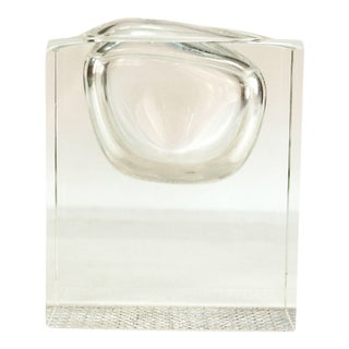 Modernist Lead Crystal Vase For Sale