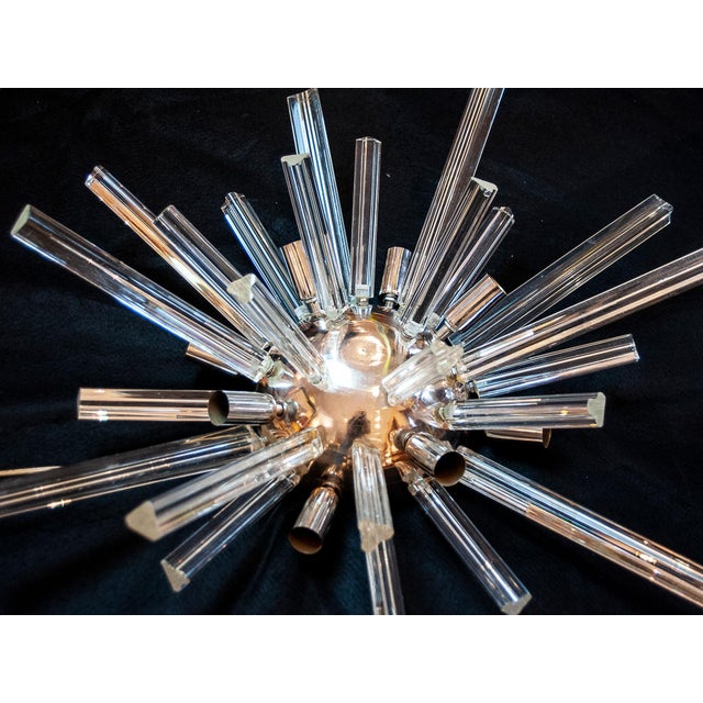 Mid-Century Modern Murano Glass Sputnik Wall Sconces Lights, Circa 1960 - a Pair For Sale - Image 4 of 7