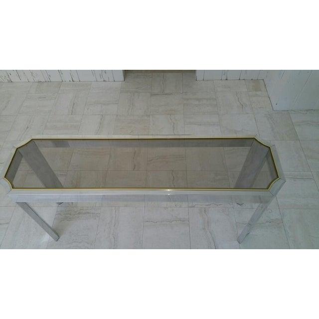 Aluminum & Brass Sofa Table - Image 5 of 6